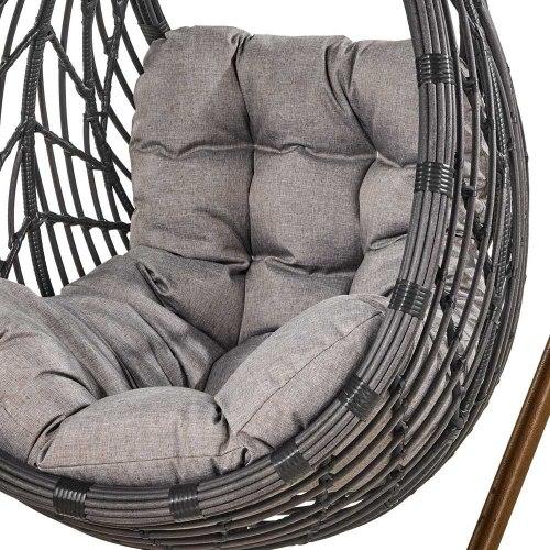 Подвесное кресло из искусственного ротанга N886-W72 Dark Grey