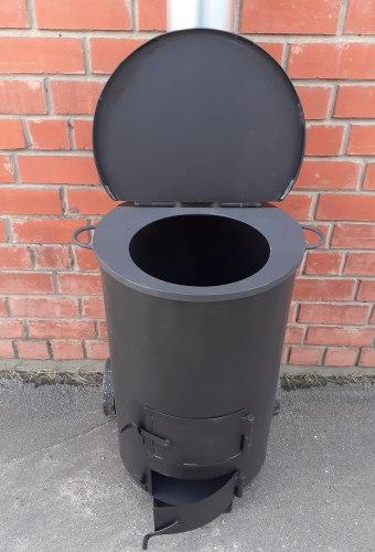 Печь под казан + мусоросжигатель УСМ-130