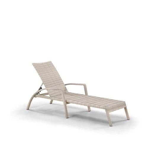 Шезлонг-лежак плетеный A30C-W85 Latte