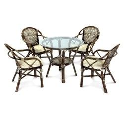Комплект обеденный ELLENA (обеденный стол + 4 кресла)