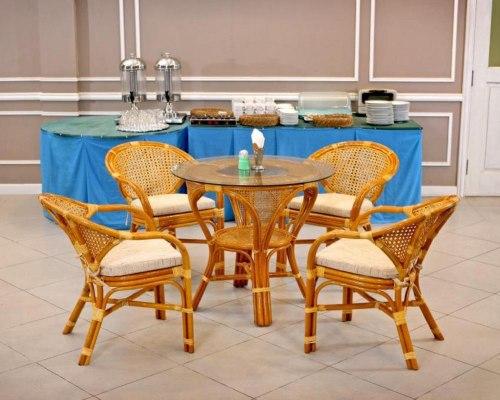 Комплект обеденный MOKKO+JAVA (стол + 4 кресла)