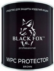 Масло Black Fox Protector для террасной доски ДПК Банка 2,5 л темно-коричневый