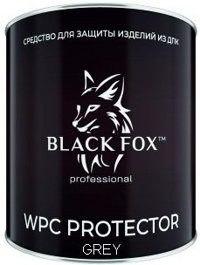 Масло Black Fox Protector для террасной доски ДПК Банка 2,5 л серый