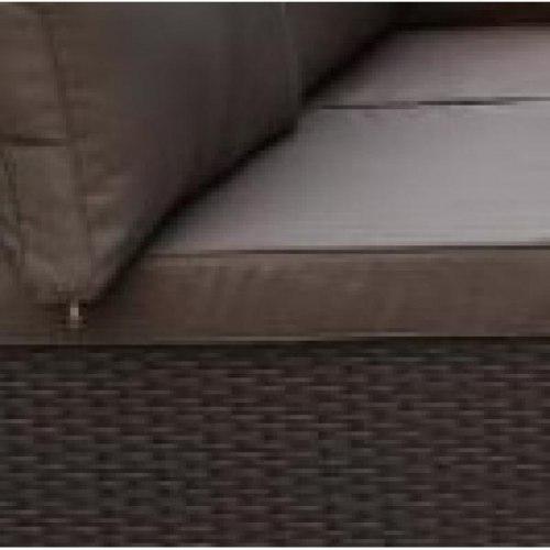 Плетеный модульный диван YR822BB-Brown/Brown