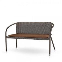 Плетеный диван S139A-W53 Brown/Beige