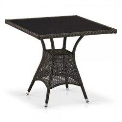Плетеный стол T197BNS-W53-80x80 Brown