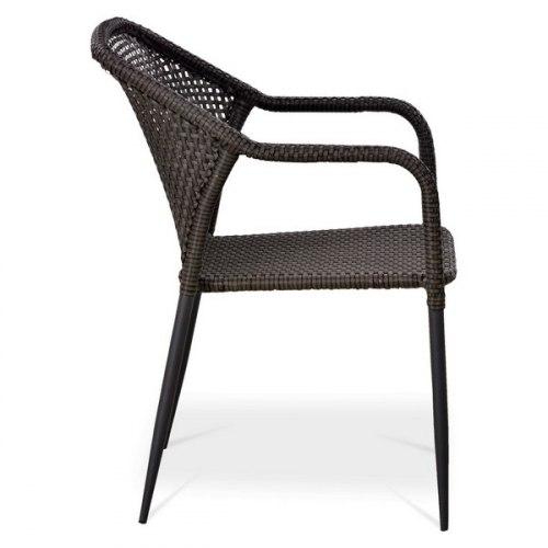 Плетеный стул из искусственного ротанга Y35-W2390 Brown