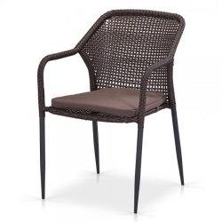 Плетеный стул Y35B-W2390 Brown с подушкой