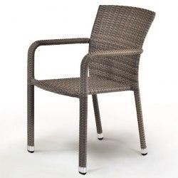 Плетеный стул из искусственного ротанга A2001G-C088FT Pale