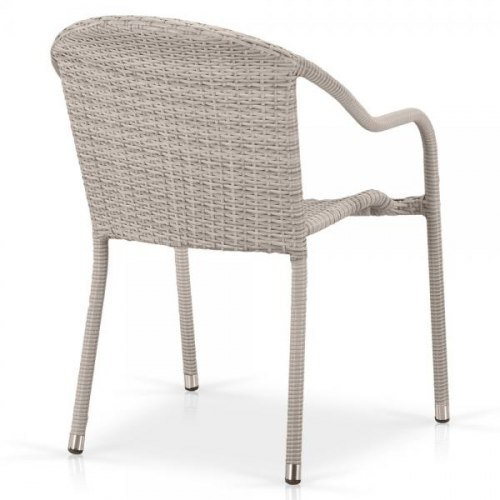Плетеное кресло из искусственного ротанга AFM-318G-Light Grey