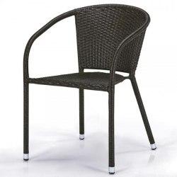 Плетеное кресло из искусственного ротанга Y137C-W53 Brown