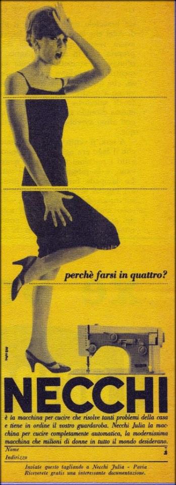 Рекламный проспект Necchi 70-х годов двадцатого века