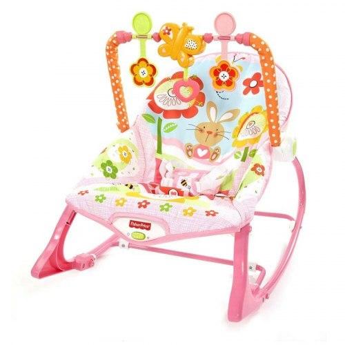 "Шезлонг-кресло-качалка Fisher Price ""Летний сад"""