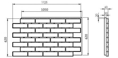 Термопанель Loft brick chili