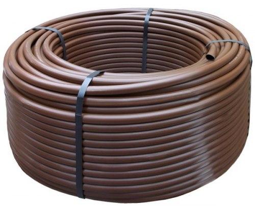 Капельный шланг без капельниц бухта 100 м, коричневого цвета