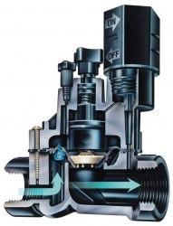 """Клапан электромагнитный 100-DVF 1"""" ВР с регулировкой потока"""