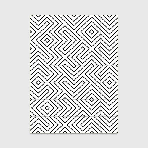 Черно-белая геометрия линия. Под заказ. Срок ожидания 2-3 недели С-008