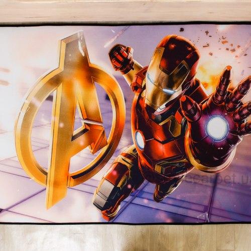 Ковер из микрофибры Суперои Железный Человек Мстители S-3