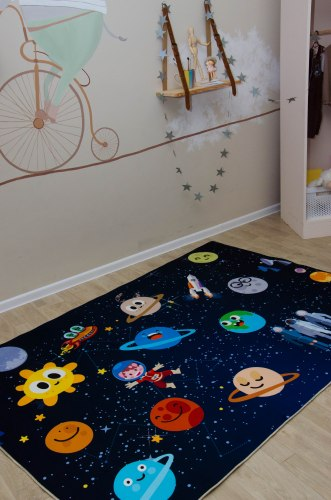 Детский коврик Веселые планетки