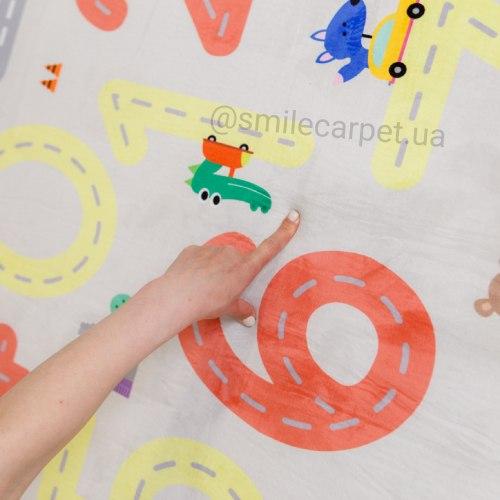 Толстый детский ковер мат Веселые цифры