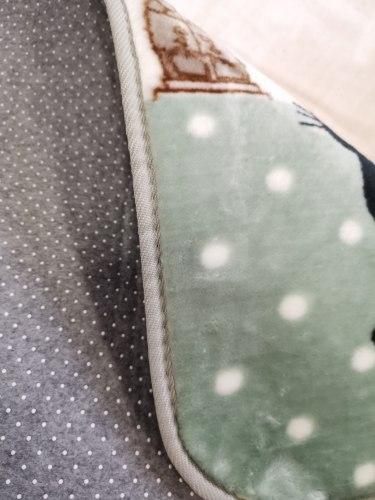 Детский плюшевый коврик Париж в зеленом цвете ПК-10