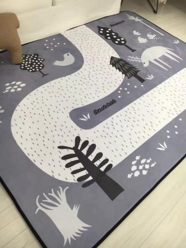 Детский толстый ковёр - мат Снежная тропинка ТМ-59