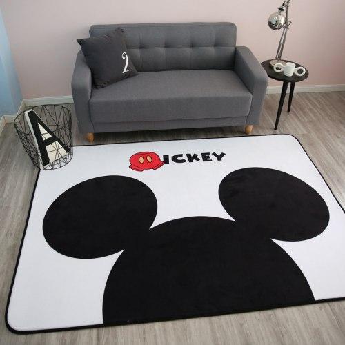 Толстый детский ковер-мат ТМ-22 Mickey Mouse на белом фоне
