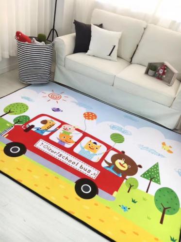 Мягкий толстый ковер-мат ТМ-17 Красный автобус