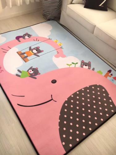 Мягкий толстый ковер-мат ТМ-16 Розовый слон
