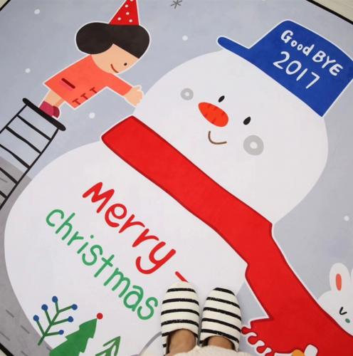Мягкий толстый ковер-мат ТМ-80 Рождество