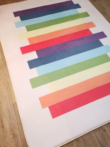 Мягкий толстый ковер-мат ТМ-82 Цветные полосы