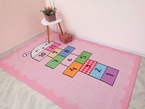 Детский коврик Розовый Классики