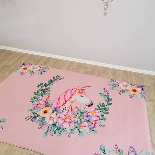 Детский коврик Розовый Единорог Infant Shining ДП-25