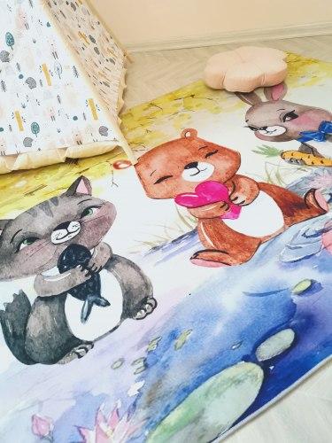 Детский коврик Симпатичные зверята Be brave
