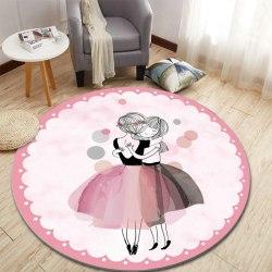 Круглый детский коврик Балерины 160 см Cкидка 20% КБ-1