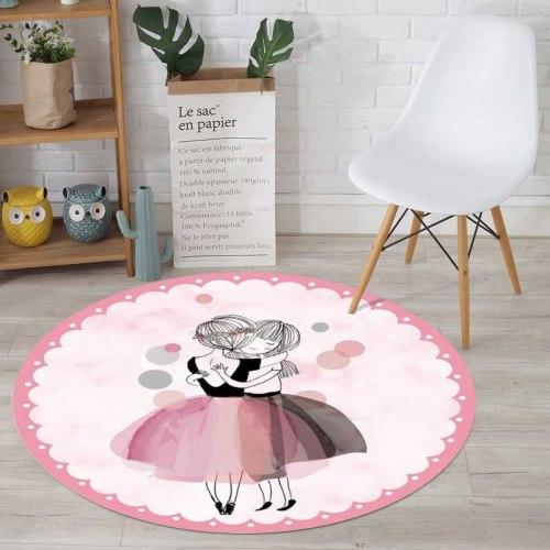 Круглый детский коврик Балерины 160 см КБ-1