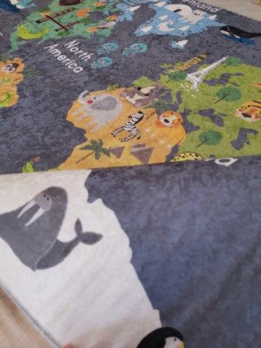 Детский ковёр (внутри поролон) ТУРЦИЯ Карта мира