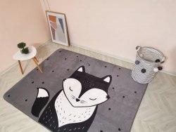 УЦЕНКА!!!Детский плюшевый коврик Мистер Лис (маленький брак в печати) ПК-1