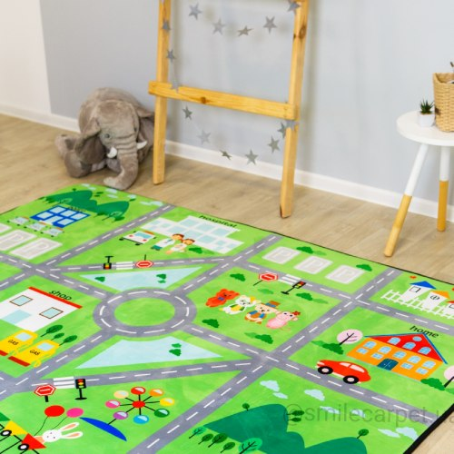 Детский теплый ковёр мат Город ТМ-6