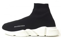 Knit High-Top Sneakers Black/White Balenciaga