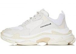Triple S White Balenciaga