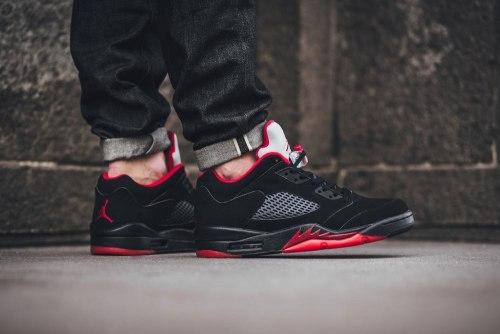 Air Jordan 5 Low Alternate Black Red Nike