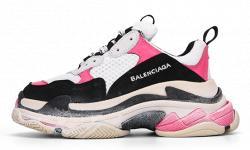 Triple S White/Pink/Black Balenciaga