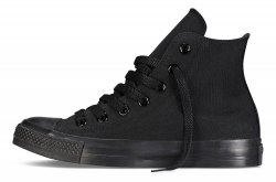 "All Star High ""All Black"" Women Converse"