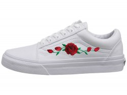 Кеды Old School Roses White Vans