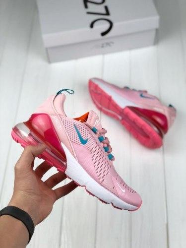 Air Max 270 Flyknit Bule Pink Nike
