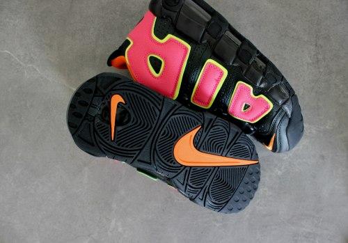 Air More Uptempo Black/Orange/Hot Punch-Volt Nike