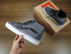 Кеды зимние SK8 - Hi. Winter Edition Grey V a n s