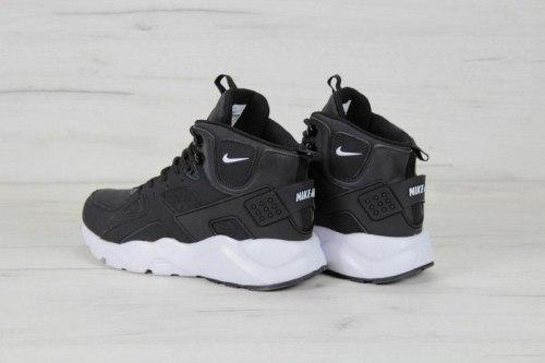 Кроссовки зимние! Air Huarache High Top Black White Winter Nike