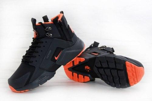 Кроссовки зимние! Air Huarache CITY MID LEA Winter Nike